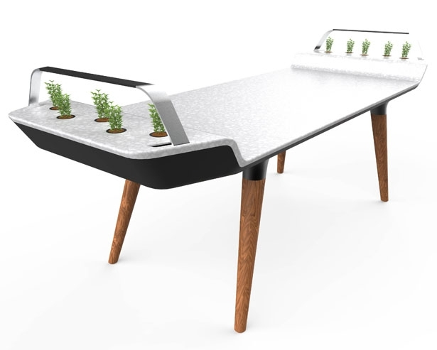 Avia Dining Table With Small Hydroponic Gardens – Tuvie Throughout Gavin Dining Tables (View 13 of 25)