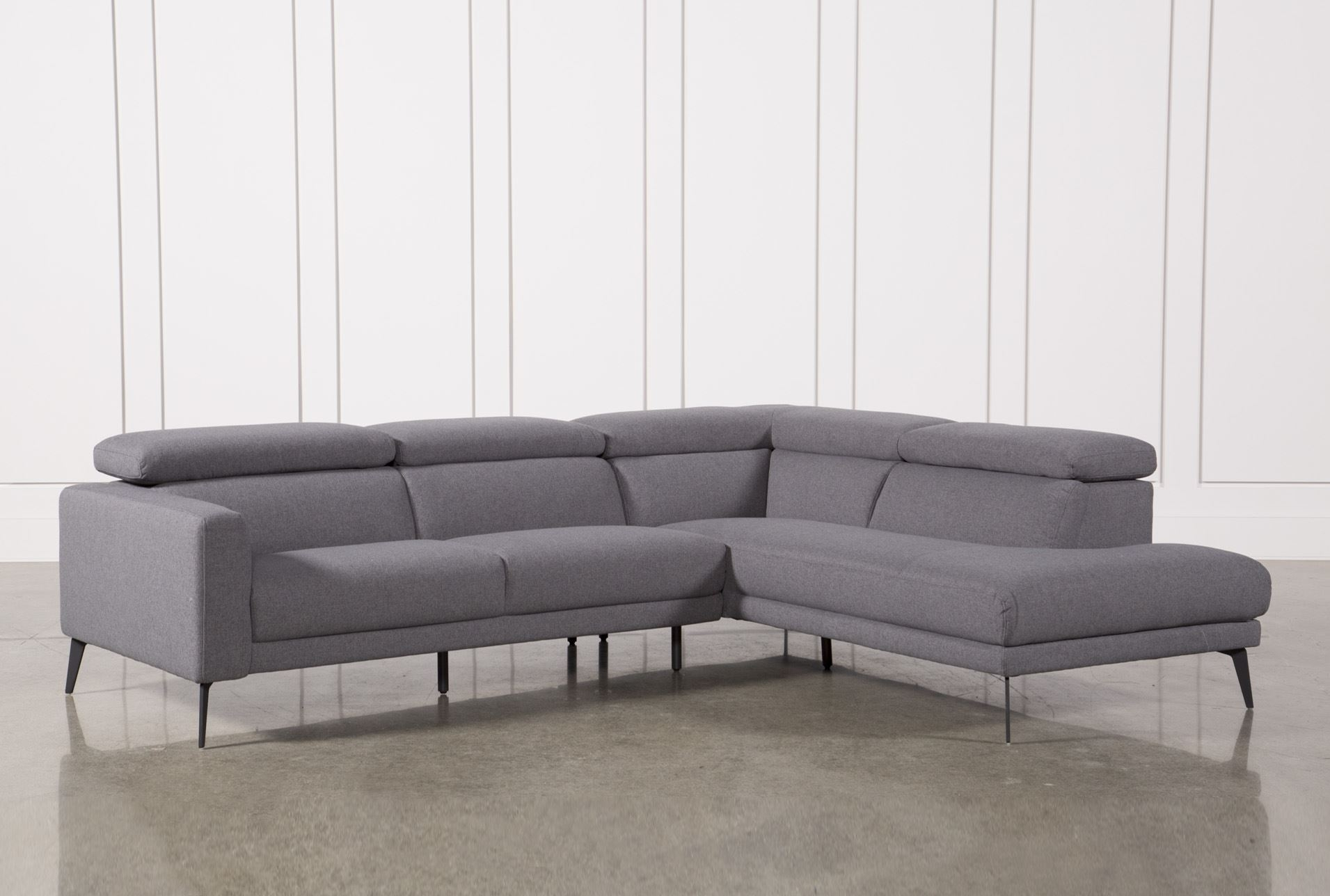 Awesome Collection Of Raf Chaise On Neo Grey 2 Piece Sectional W Raf With Norfolk Grey 3 Piece Sectionals With Laf Chaise (Image 1 of 25)