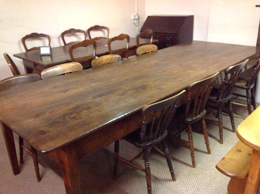 Awesome Reclaimed Wood Kitchen Table And Chairs From Antique Dining Within French Farmhouse Dining Tables (Image 7 of 25)