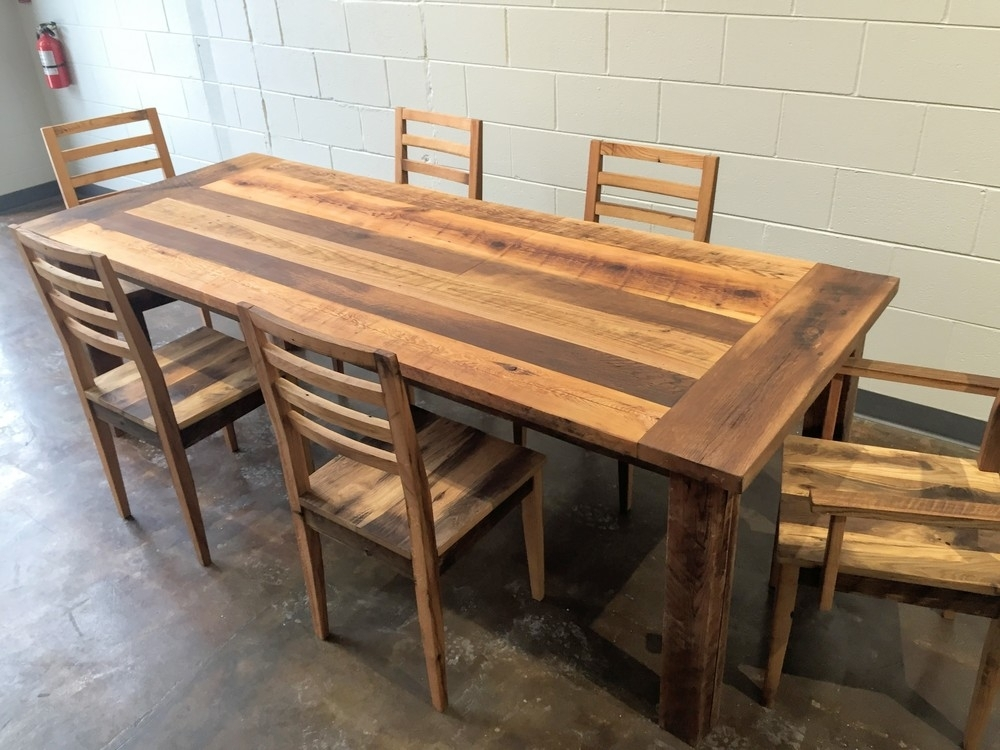 Awesome Rectangular Square Reclaimed Wood Dining Table Catherine M Within Cheap Reclaimed Wood Dining Tables (Image 2 of 25)