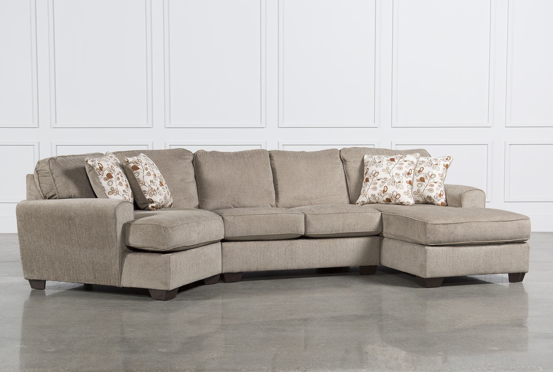 Awesome Sectional Sofa With Cuddler Chaise – Buildsimplehome Inside Haven 3 Piece Sectionals (Image 3 of 25)