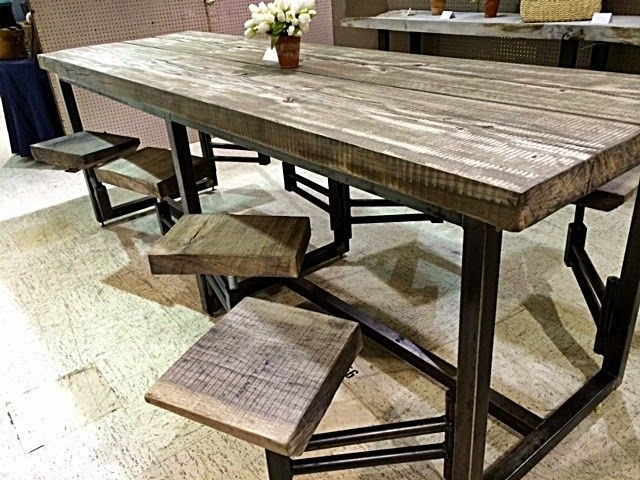 Featured Image of Dining Tables With Attached Stools