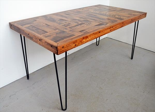 Awesome Wood Dining Table With Metal Legs Remarkable Steel Legs For Pertaining To Dining Tables With Metal Legs Wood Top (Image 2 of 25)