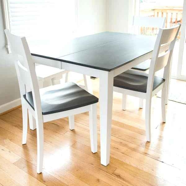 Awful Dining Table With Grey Wood Stained Top And White Legs Picture With Dining Tables With White Legs And Wooden Top (Image 1 of 25)