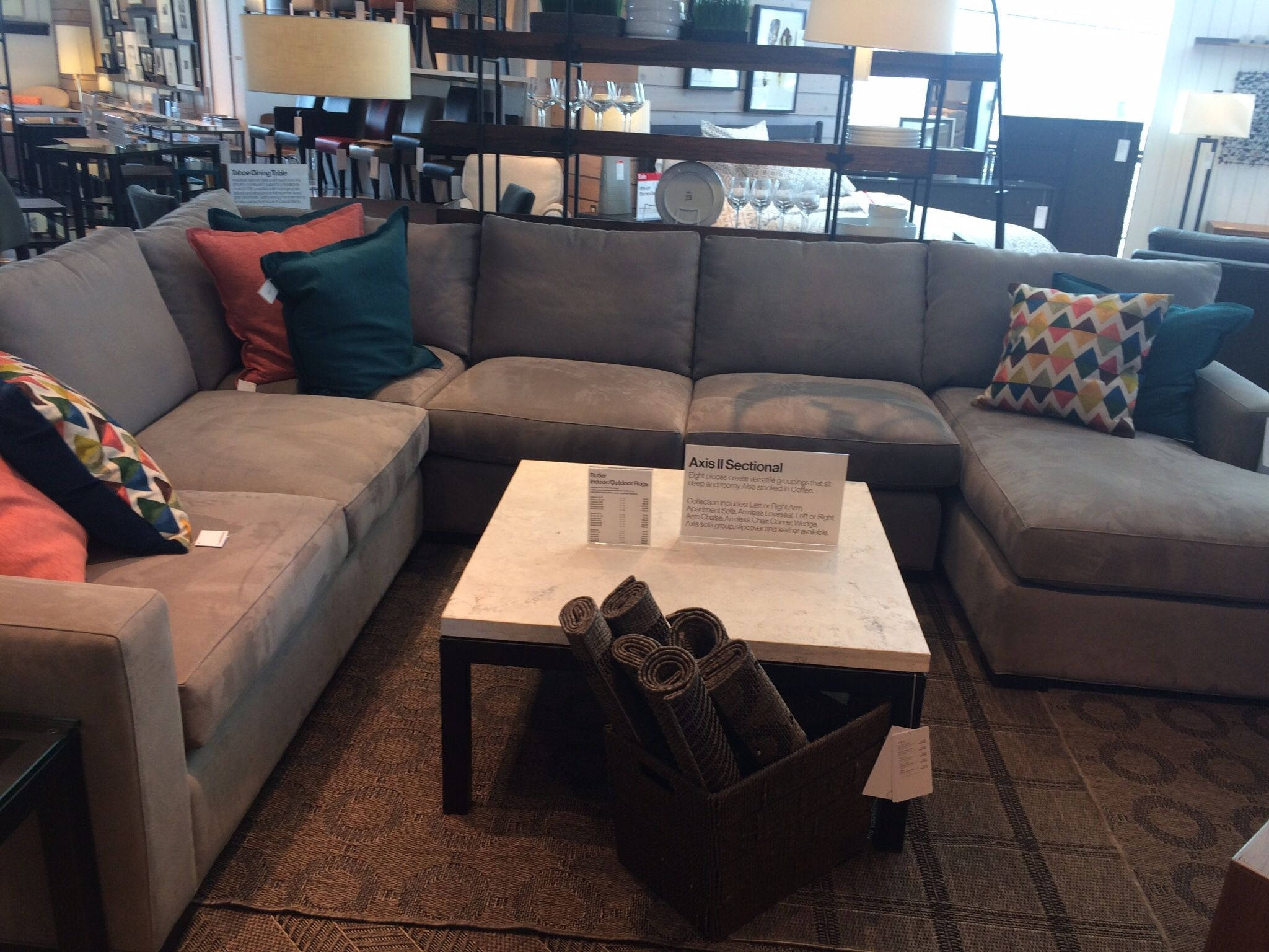 Axis Crate And Barrel | Sectionals | Pinterest | Sectional Sofa Intended For Elm Grande Ii 2 Piece Sectionals (Image 15 of 25)