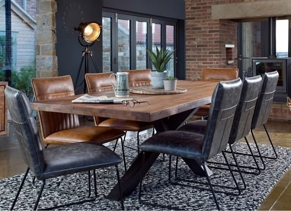 Bahama 200Cm Holburn Dining Table & 6 Cooper Dining Chairs For Cooper Dining Tables (Image 1 of 25)