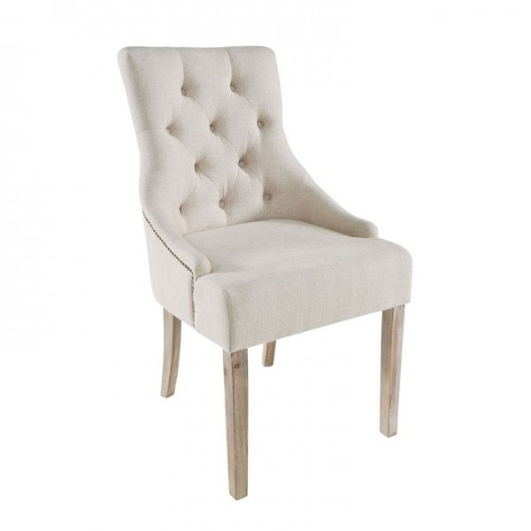 Bainton Cream Button Back Dining Chair – Wooden Furniture Store With Button Back Dining Chairs (Image 1 of 25)