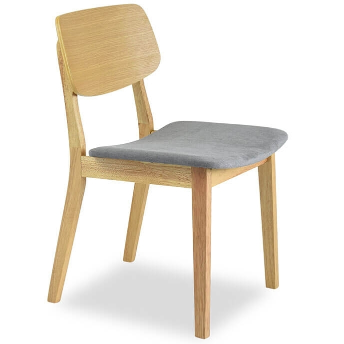 Baldwin Mid Century Modern Dining Chair Oak – (Set Of 2) Pertaining To Oak Dining Chairs (Image 3 of 25)