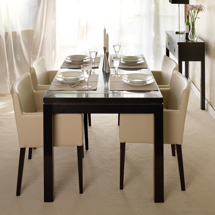 Bali Black Lacquer Oriental Dining Table | Dining Tables Intended For Black Dining Tables (Image 3 of 25)