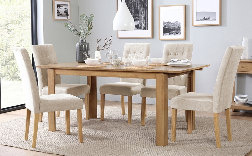 Bali Extending Dining Table & 4 Chairs Set (Regent Oatmeal) Only With Balinese Dining Tables (Image 4 of 25)