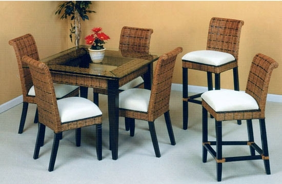 Bali Rattan Dining Suite From Summit Design | Stained Wicker Dining With Regard To Bali Dining Sets (View 7 of 25)