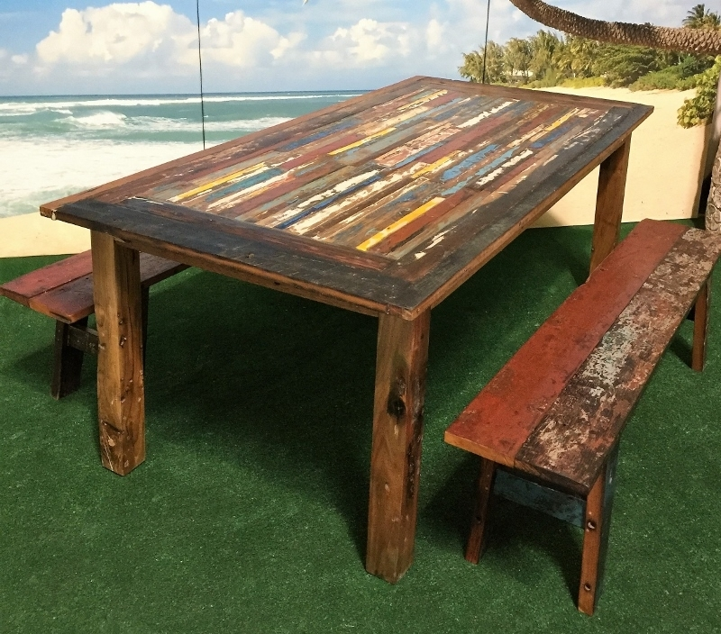 Bali Teak Furniture Portland: Outdoor Teak Occasional Tables In Bali Dining Tables (Image 9 of 25)