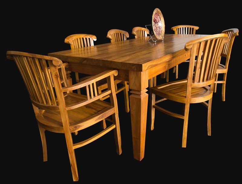 Bali Teak Furniture Portland Quality Wood Indoor Dining Tables Within Balinese Dining Tables (Image 11 of 25)