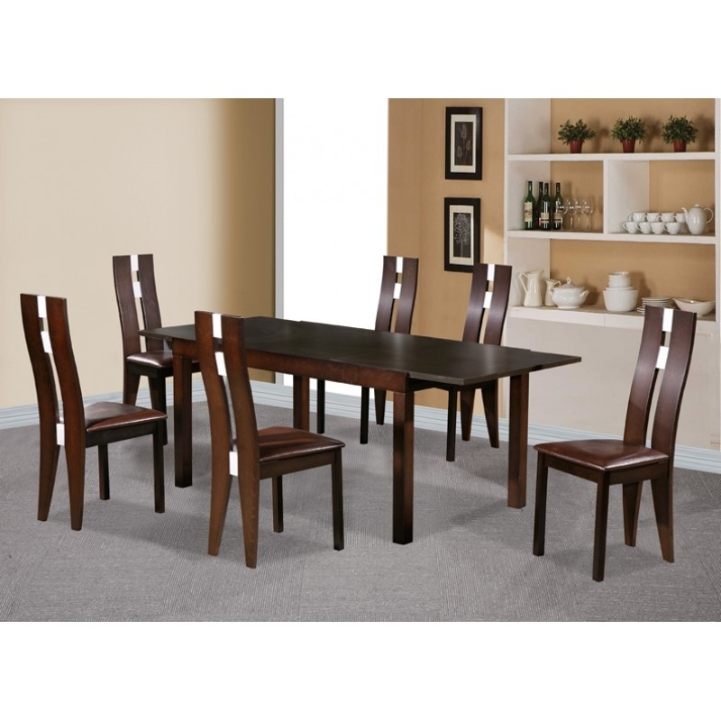Baltic Extending Solid Beech Dining Table Set With Six Chairs Regarding Beech Dining Tables And Chairs (Image 7 of 25)