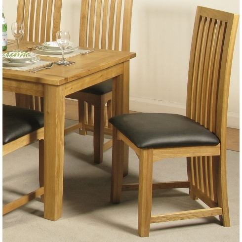 Baltimore Solid Oak Dining Chair From Interiors Hq With Regard To Oak Dining Chairs (Image 4 of 25)