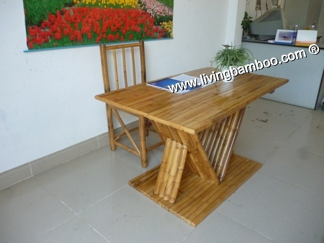 Bamboo Dining Room – Pisa Dining Set Natural In Pisa Dining Tables (Image 3 of 25)