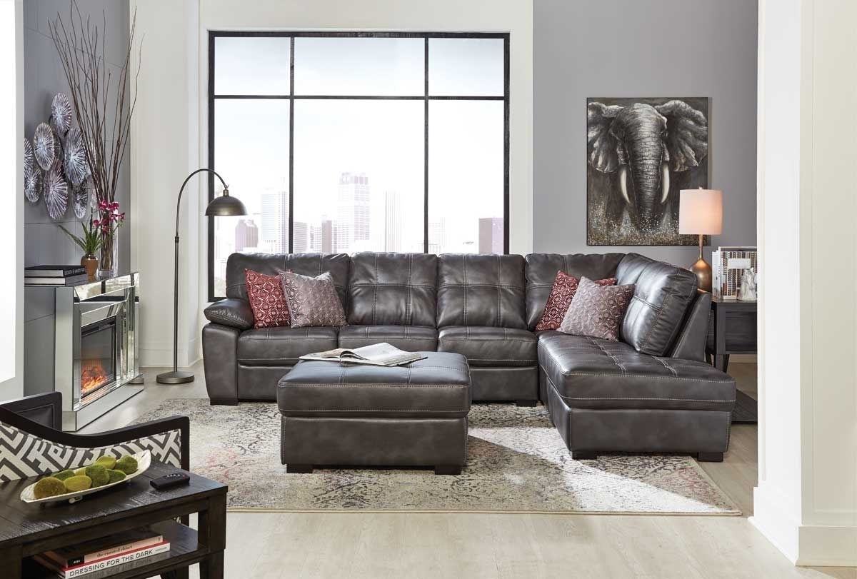 Bannon Grey 2 Pc Sectional | Badcock &more With Regard To Cosmos Grey 2 Piece Sectionals With Laf Chaise (View 23 of 25)