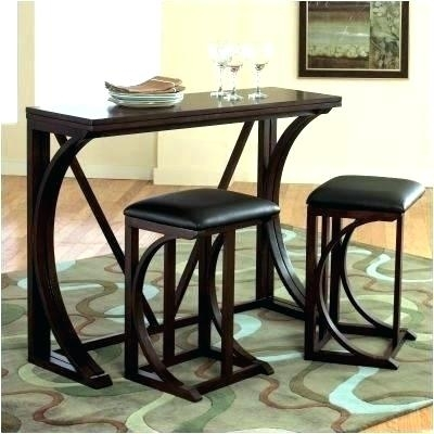 Bar Stool Set Of 3 Small 3 Piece Dining Set 3 Piece Bar Stool Set Throughout Palazzo 3 Piece Dining Table Sets (Image 4 of 25)