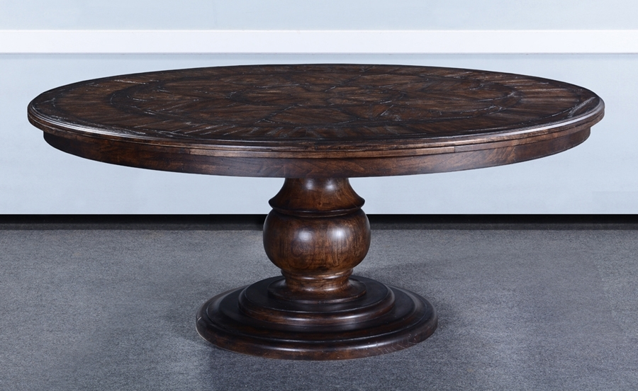 Barcelona Antique Walnut 72 Round Dining Table : , Storeroom On Main Inside Barcelona Dining Tables (Image 3 of 25)