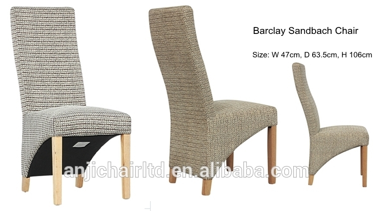 Barclay Fabric Cover Wood Frame Modern High Back Dining Chair – Buy Pertaining To High Back Dining Chairs (Image 2 of 25)