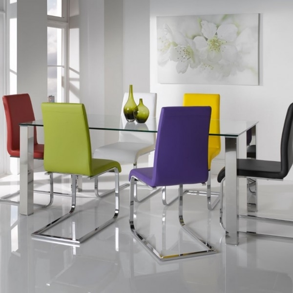Barletto Clear Glass Dining Table And Chairs – 5 Day Express Uk Delivery Within Glass And Chrome Dining Tables And Chairs (View 6 of 25)