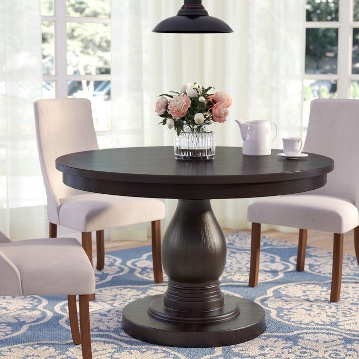 Barrington Dining Table In 2018 | Dining Room | Pinterest | Dining Intended For Caira Black 5 Piece Round Dining Sets With Upholstered Side Chairs (Image 8 of 25)