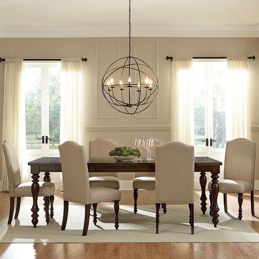 Baxton Studio 7 Piece Dining Set In 2018 | Decor | Pinterest In Market 7 Piece Dining Sets With Host And Side Chairs (Image 3 of 25)