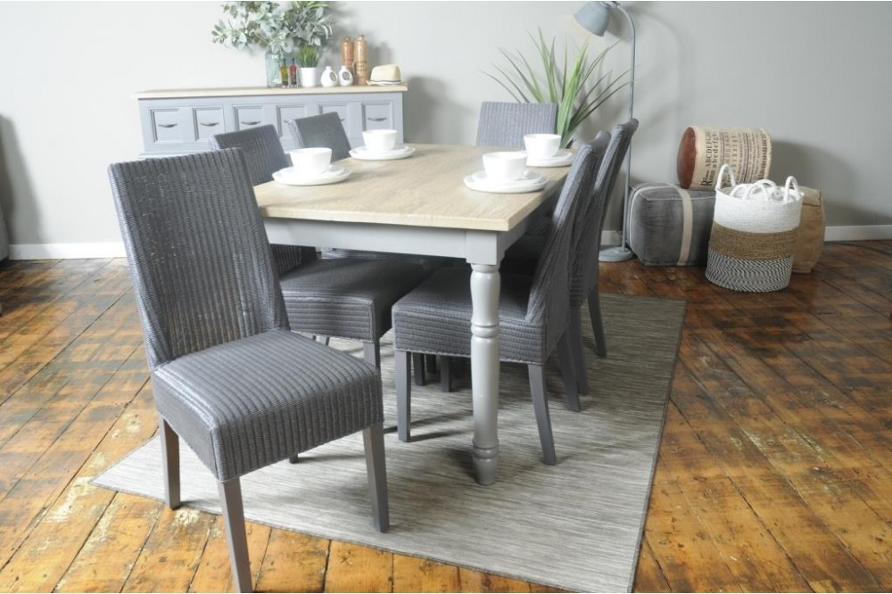 Bayliner Lloyd Loom Monaco Storm Grey Dining Chair  Oal02F Regarding Monaco Dining Sets (Image 5 of 25)