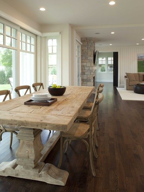Be Sentimental And Have A Farmhouse Kitchen Table In Your Home Inside Helms 6 Piece Rectangle Dining Sets With Side Chairs (Image 4 of 25)