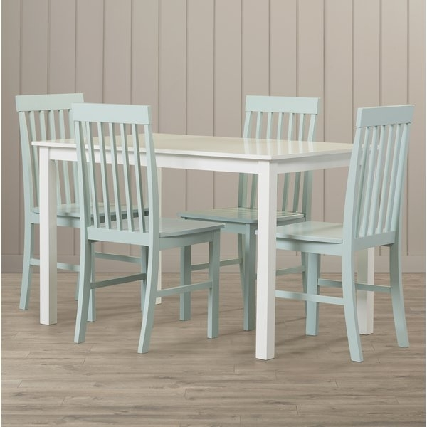 Beachcrest Home Cienna 5 Piece Dining Set & Reviews | Wayfair In Laurent 5 Piece Round Dining Sets With Wood Chairs (Image 4 of 25)