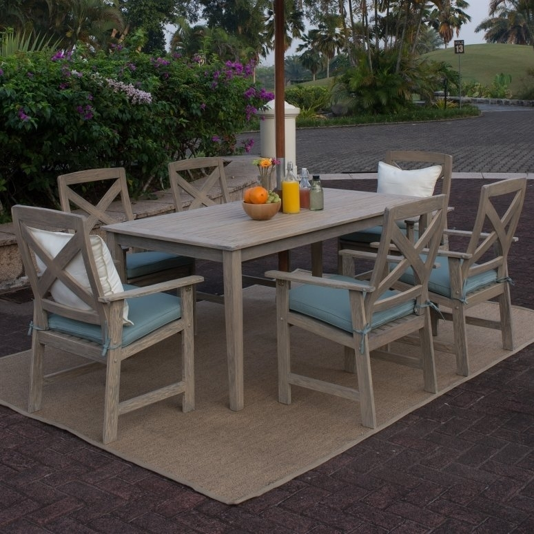 Beachcrest Home Englewood 6 Piece Dining Set With Cushions & Reviews Within Cora 5 Piece Dining Sets (Image 2 of 25)