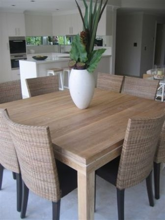 Beachwood Furniture – Solid Limed Oak 'modern' Square Dining Table Intended For Square Oak Dining Tables (Image 3 of 25)