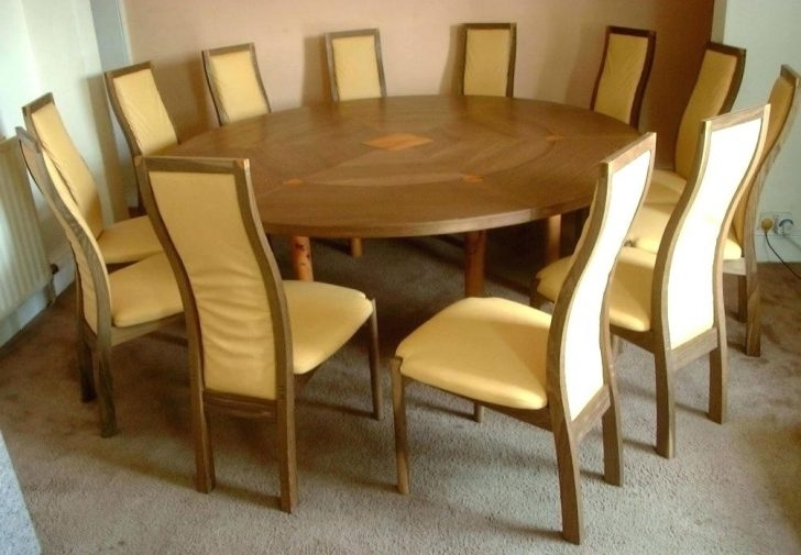 Beautiful Circular Dining Table For 8 Seats Seater Size Decoration Pertaining To Large Circular Dining Tables (Image 3 of 25)