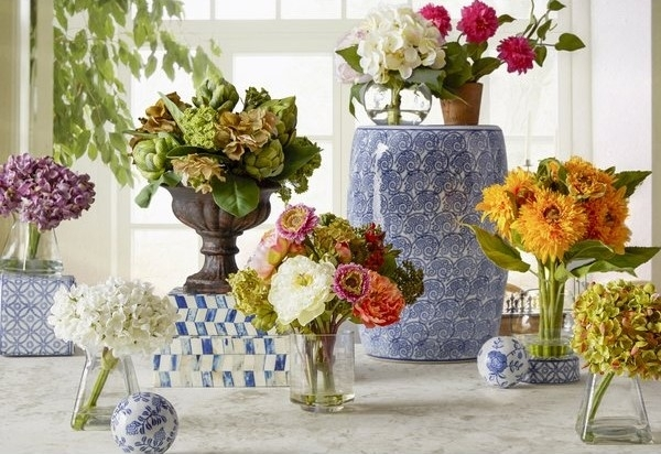 Beautiful Floral Centerpieces For Dining Tables For Warm And Eye Throughout Artificial Floral Arrangements For Dining Tables (Image 8 of 25)