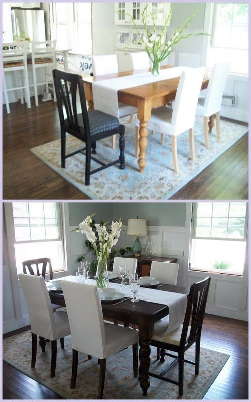 Beautiful Kitchen Table Redo @allyson Angelini Angelini Weaver In Weaver Ii Dining Tables (Image 4 of 25)