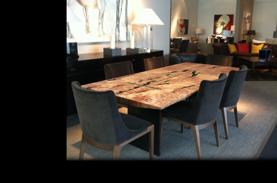 Beautiful Reclaimed Wood Dining Table Design Featuring Rectangle With Regard To Dark Solid Wood Dining Tables (Image 4 of 25)