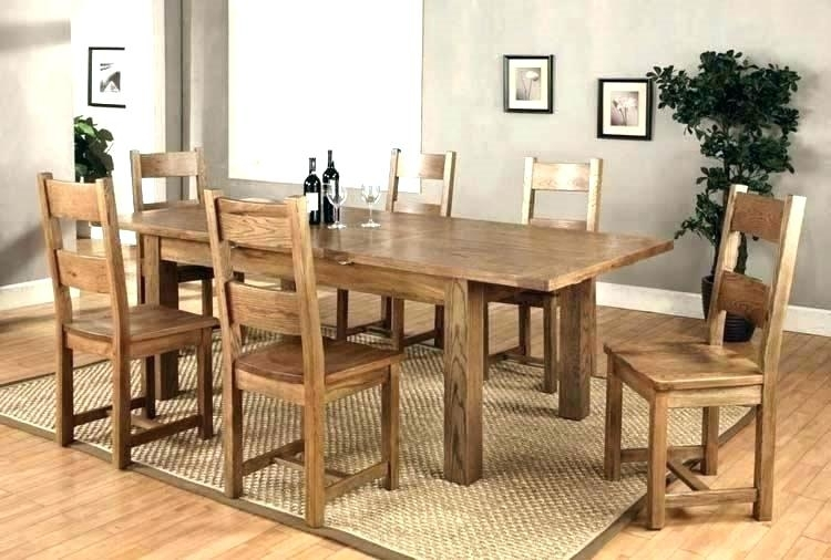 Beautiful Round Dining Table For 6 Kitchen With Chairs Upholstered Intended For Chunky Solid Oak Dining Tables And 6 Chairs (Image 2 of 25)