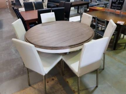 Beautiful Solid Timber / White Wash 6 Pc Dining Suite | Dining Within Logan 6 Piece Dining Sets (Image 3 of 25)