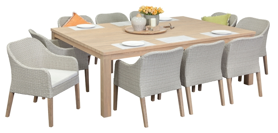 Beautifully Idea Dining Room Chairs Perth Timber Outdoor Sets Throughout 10 Seater Dining Tables And Chairs (Image 14 of 25)