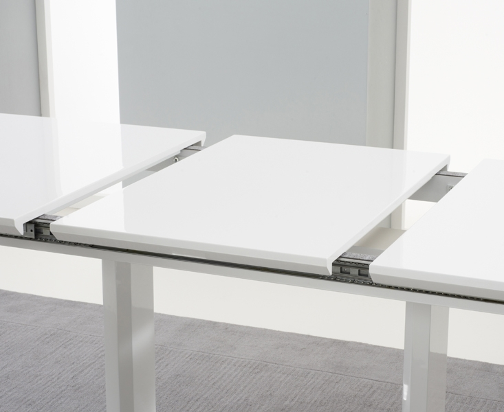 Beckley 160Cm 220Cm White Extending Dining Table [255300] – £ (View 25 of 25)
