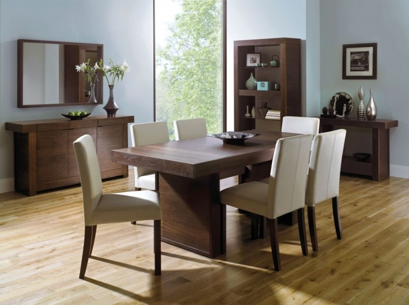 Beechwood Dining Table And Chairs Dark Walnut Dining Table And 6 Inside Walnut Dining Table And 6 Chairs (Image 6 of 25)