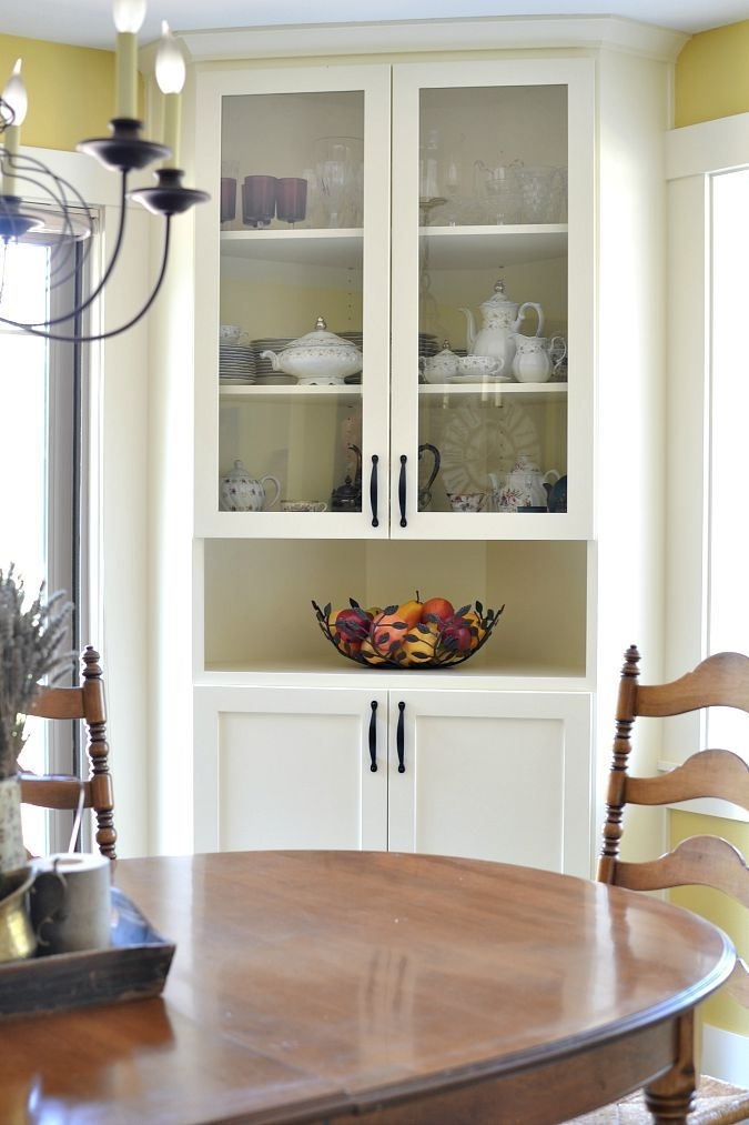 Before And After Dining Room Makeover | White Kitchens | Pinterest Intended For Dining Room Cabinets (Image 7 of 25)