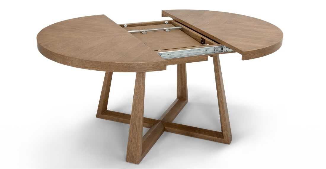 Belgrave Extending Dining Table, Dark Stained Oak | Made With Extending Round Dining Tables (Image 4 of 25)