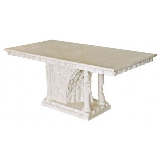 Bellagio Macatan Stone Roman Style Dining Table 19441 Within Bellagio Dining Tables (View 16 of 25)