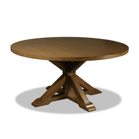 Belle Reclaimed Wood Round Dining Table With Regard To Valencia 60 Inch Round Dining Tables (Image 4 of 25)