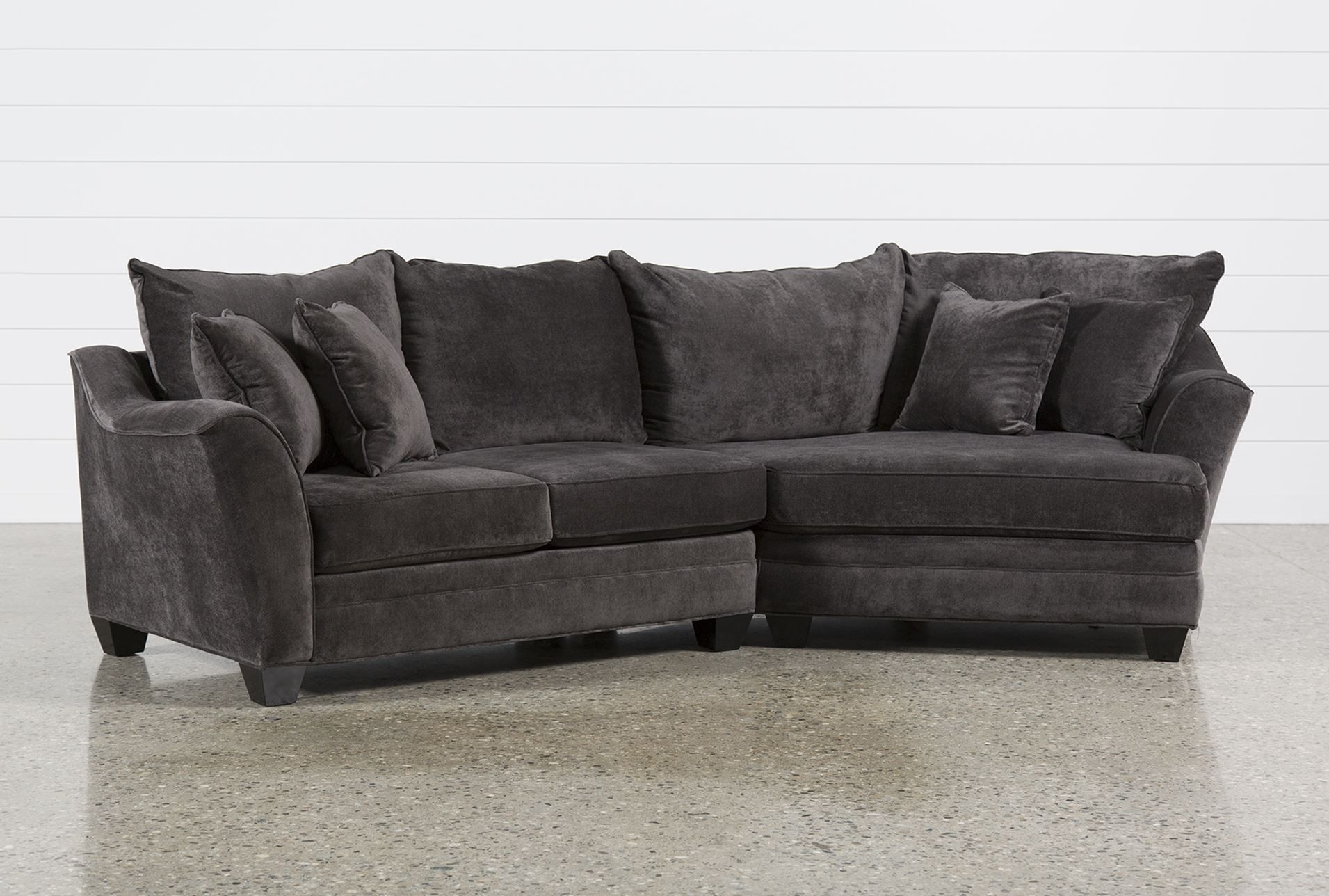 Belleview Graphite 2 Piece Sectional W/raf Cuddler – Dream Couch Regarding Evan 2 Piece Sectionals With Raf Chaise (Image 5 of 25)