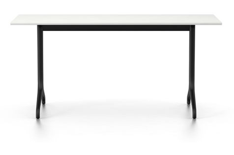 Belleville Rectangular Dining Table Melamine Whitevitra Clippings In White Melamine Dining Tables (Image 3 of 25)