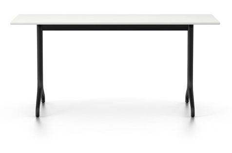 Belleville Rectangular Dining Table Melamine Whitevitra Clippings In White Melamine Dining Tables (View 16 of 25)