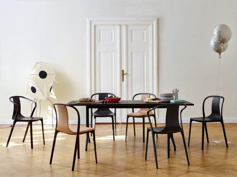 Belleville Rectangular Dining Table Melamine Whitevitra Clippings Within White Melamine Dining Tables (View 12 of 25)