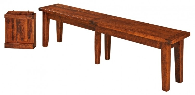 Benson Bench : 253 Benb 102 : Dining Furniture : Dining Benches Within Benson Rectangle Dining Tables (Image 5 of 25)